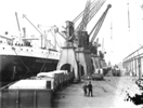 Loading the Melbourne Star, Immingham Docks, date unknown