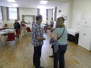 Residents of North Thoresby arriving at the reminiscence session, 30th July 2013