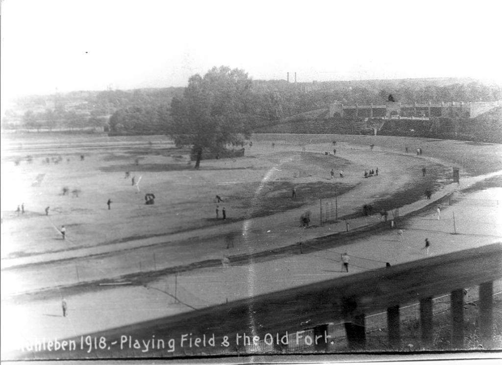 Playing Field and the Old Fort 1918