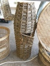 Close up of the Eel Hive made from brown (unpeeled) willow