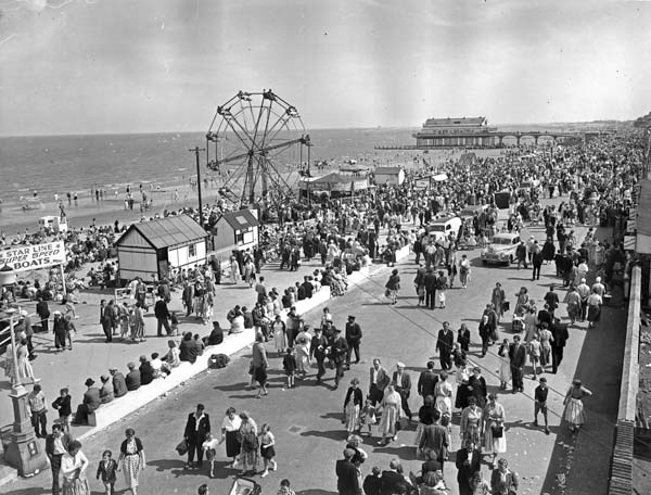 Bank Holiday on the Promenade at Cleethorpes 1950s