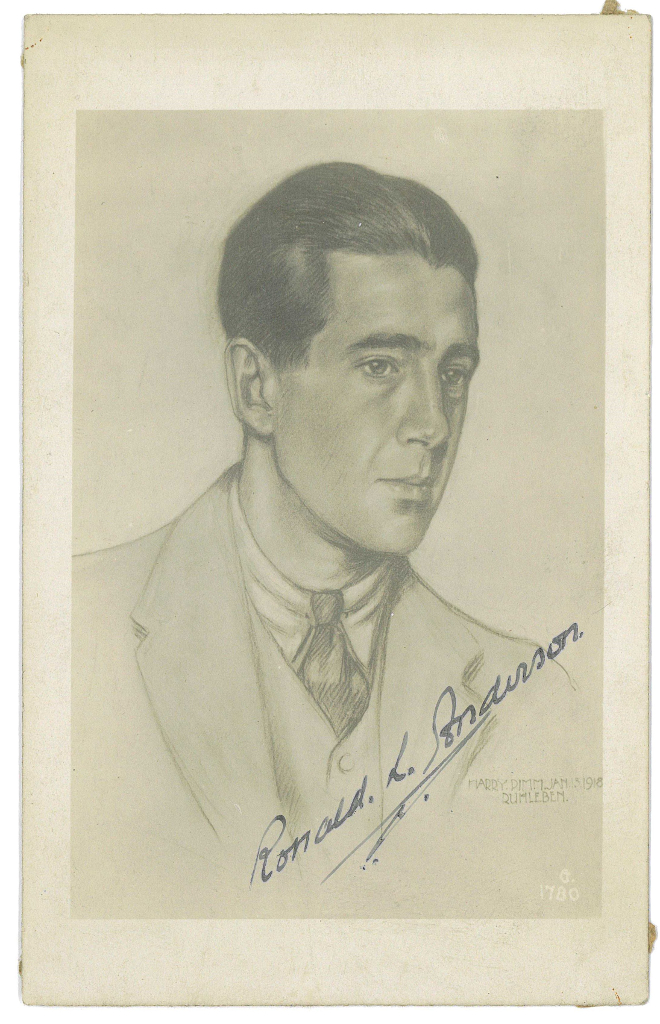 Ronald L Anderson,actor by Harry Pimm Jan 15th 1918