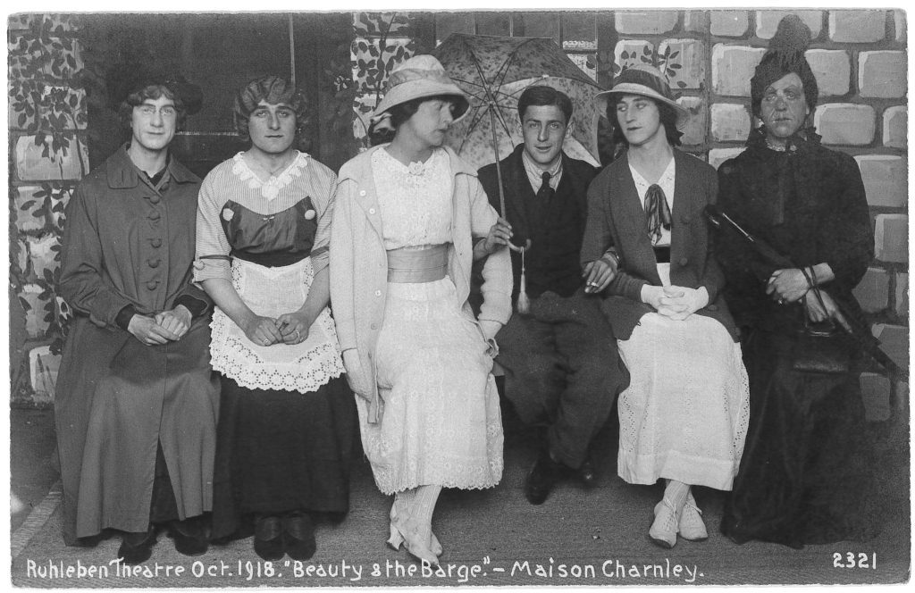 Ruhleben Theatre Oct 1918 - Beauty and the Barge - Maison Charnley