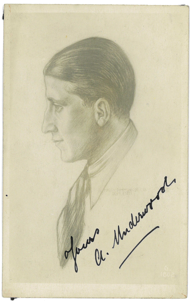 A. Underwood, actor by Harry Pimm Jan 20th 1918